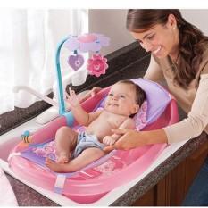 Giường lưới , ghế lót chậu tắm cho bé