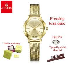 Đồng hồ nữ thời trang Hàn Quốc Julius JA-732D dây nhuyễn (Vàng)