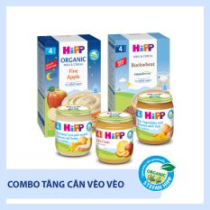 [TẶNG PUDDING/ CHÁO SỮA ĂN DẶM 95K] Combo ăn dặm Tăng cân vèo vèo HiPP Organic