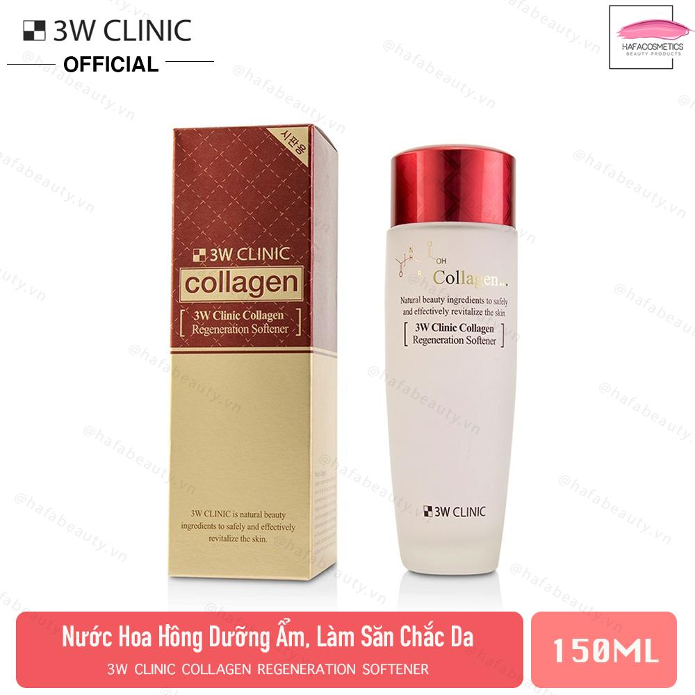 Nước Hoa Hồng Tái Tạo Da Chống Lão Hóa 3W Clinic Collagen Regeneration Softener 150ml