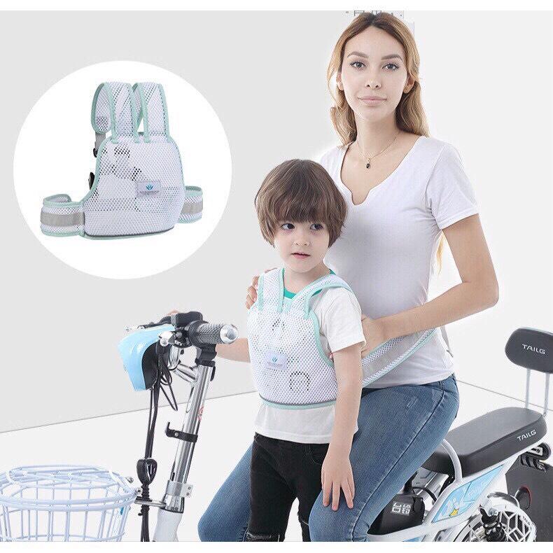 Đai xe máy dạng lưới thoáng khí cho bé mã đẹp