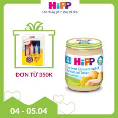 [FREESHIP] Dinh dưỡng đóng lọ Ngô bao tử, Khoai tây, Gà tây (A) HiPP Organic 125g