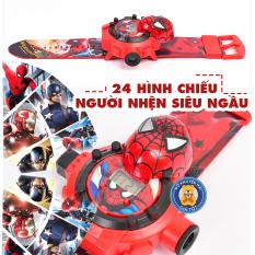 Đồ chơi trẻ em – Đồng hồ cho bé trai, đồng hồ cho bé gái mô hình đồ chơi siêu nhân người nhện nhân vật phim hoạt hình có chiếu hình 3d (24 hình) 777-131B – Đồ khuyến mãi giá tốt