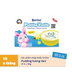 Pudding ăn dặm Burine vị vani – Nhập khẩu Đức dành cho trẻ từ 6 tháng tuổi bổ sung dinh dưỡng, giúp bé tăng cân