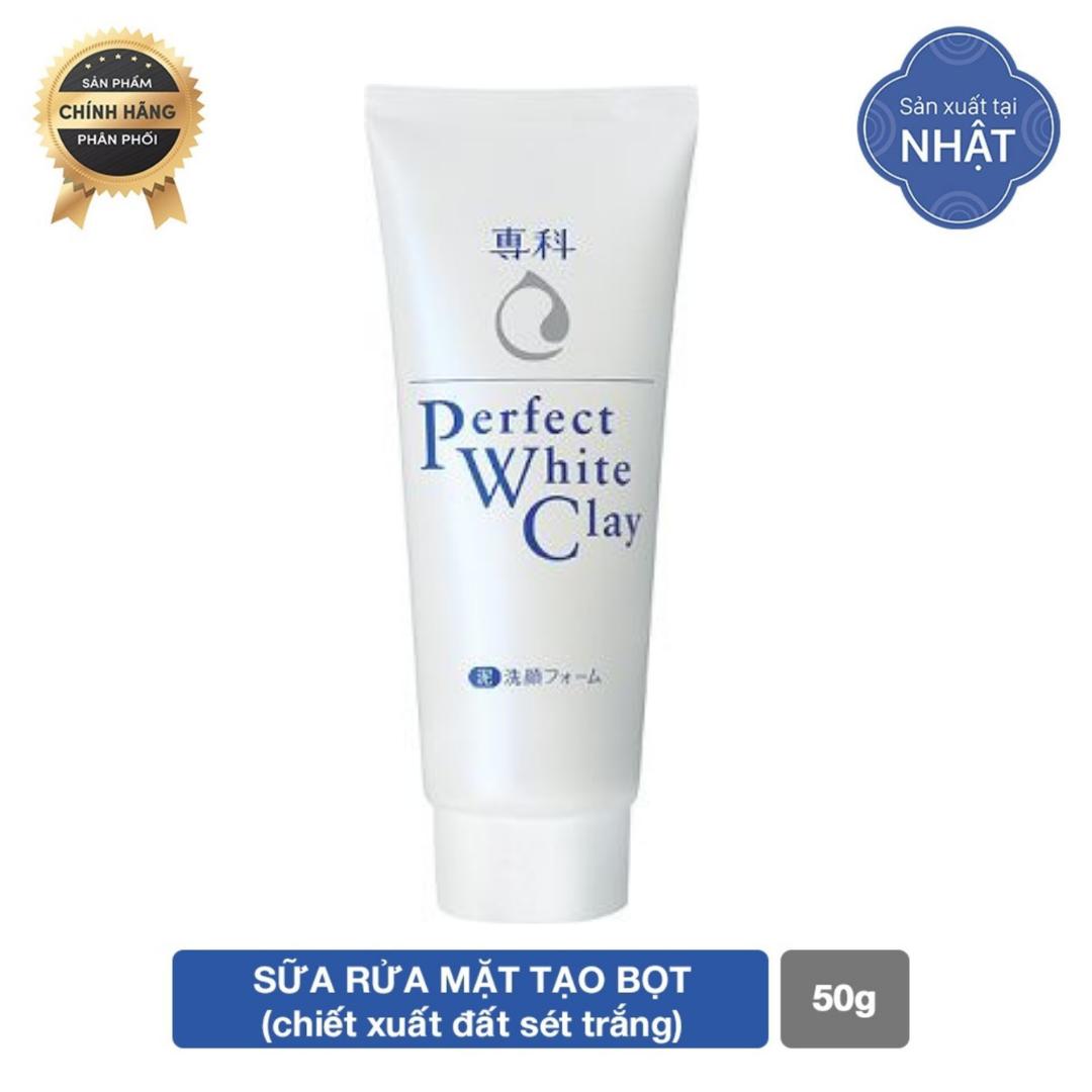 GIFT-Sữa rửa mặt đất sét trắng Senka Perfect White Clay 50g