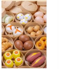 Bộ đồ chơi nấu ăn 84 chi tiết – Bánh bao , dimsum , há cảo , pizza đầy đủ phụ kiện làm bếp RF135