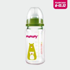 Bình Sữa Thủy Tinh Cổ Rộng Chống Sặc, Chống Đầy Hơi Cho Bé Mamamy 240 ml