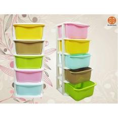 Tủ Nhựa Đa Sắc 5 Ngăn Kéo Thương Hiệu Việt Nhật