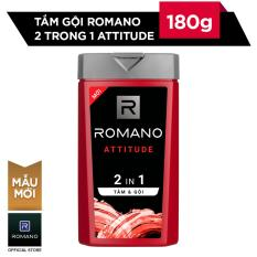 Tắm gội 2 trong 1 Romano Attitude 180g