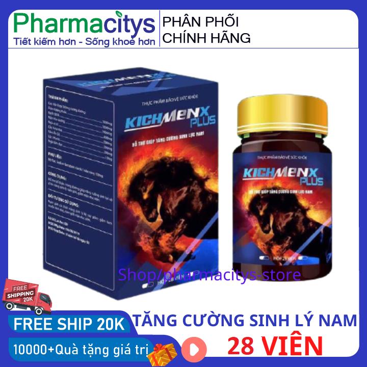 Tăng cường sức khỏe nam giới tăng sinh lý nam kéo dài thời gian quan hệ KICHMENX PLUS 28 viên HSD 2023 che tên – tăng cường tinh trùng , uống tăng thời gian quan hệ thảo dược tăng sinh lý pharmacity
