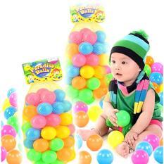 Combo 50 trái bóng nhựa sắc màu cho bé