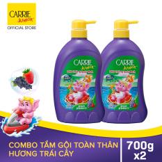 Carrie Junior Combo 2 Sữa Tắm gội cho bé hương Grapeberry (700g/chai)