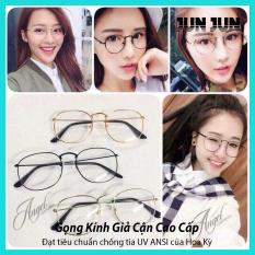 Gọng kính giả cận nam nữ cao cấp Hàn Quốc kiểu dáng Nobita – Kính cận tròn không độ mẫu đẹp lạ – Tặng kèm túi đựng + Khăn lau – Bảo hành 12 tháng 1 đổi 1 (JJNBT)