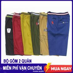 Bộ gồm 2 quần short kaki BM.02 lưng thun mặc thoải mái, chất kaki mềm mịn đảm bảo dày dặn