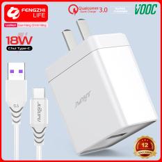 Combo bộ sạc nhanh, củ sạc nhanh 18W và cổng USB QC3.0 VOOC kèm dây sạc HÀNG CHÍNH HÃNG, bảo hành 12 tháng Q1 PLUS