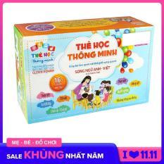 Thẻ học Song Ngữ Anh – Việt (có phiên âm) 16 chủ đề – 416 thẻ, thẻ giấy học tiếng anh phát triển ngôn ngữ the hoc do choi do choi giao duc the hoc thong minh 7 x 10cm