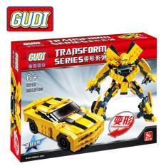 Hộp đồ chơi lắp ráp Lego – GUDI (231 chi tiết) siêu xe kết hợp KINGKONG (MS 8711)