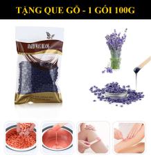 [TẶNG QUE GẠT TRIỆT LÔNG] Tẩy Wax lông – Sáp wax lông nóng hạt đậu 100g, tẩy tế bào chết cho da, lông mọc chậm hơn – Tẩy lông