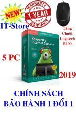 PHẦN MỀM DIỆT VIRUS KASPERSKY INTERNET SECURITY 2019 – 5PC/Năm + Tặng chuột Logitech B100