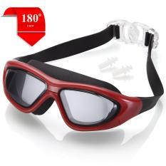 Kính bơi tầm nhìn rộng 180 Độ, tráng gương, chống sương mờ – RED POPO Collection