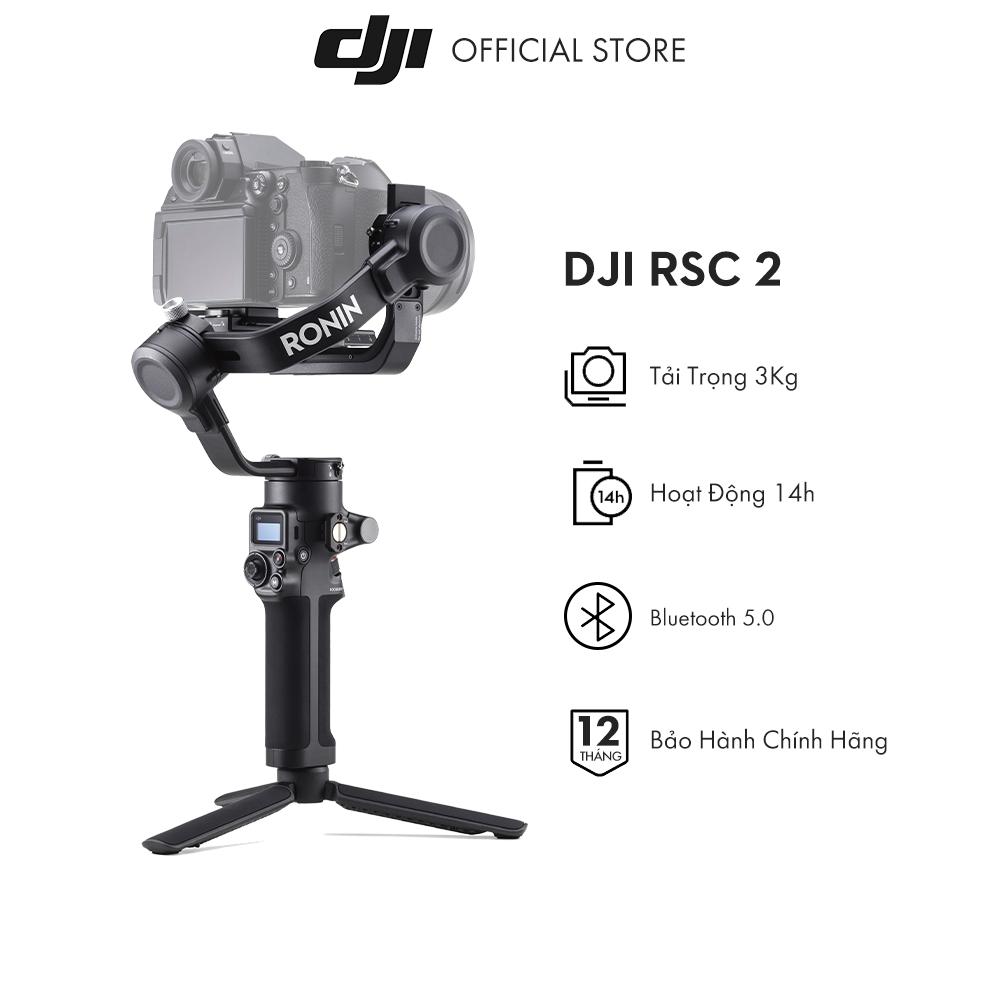 Tay cầm gimbal DJI Ronin RSC 2 chống rung máy ảnh Hàng chính hãng Bảo hành 12 tháng 1 Đổi 1