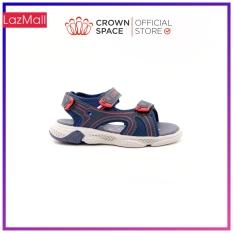 Dép Quai Hậu Bé Trai Đi Học Chính Hãng Crown Space UK Sandals Trẻ em Xăng Đan Cho Bé Trai Từ 2 đến 7 Tuổi Size 24-32 Chất Liệu Cao Cấp Nhẹ Êm Thoáng Mát An Toàn Cho Bé CRUK542