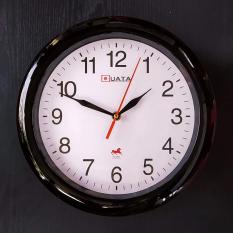 Đồng hồ treo tường tròn – màu đen – size 28cm – Kim Giật và Kim Trôi