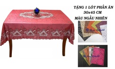 Khăn trải bàn PAULEE FY116 đỏ (135 cm x 180 cm)