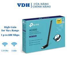 Usb wifi TP-Link chuẩn AC600 Mbps USB adapter băng tần kép,usb thu wifi Archer T2U Plus,VDH STORE
