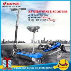 Xe điện mini E Scooter trọng tải lớn động cơ khoẻ phiên bản cao cấp có thể gấp gọn tặng kèm giỏ đựng đồ tiện lợi Bảo hành 2 năm lỗi 1 đổi 1 trong 7 ngày