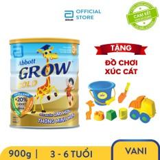 [GIẢM 20K ĐƠN 299K] Lon sữa bột Abbott Grow 3+ 900g cho trẻ 3 – 6 tuổi phát triển chiều cao tạo tiền đề cho sự phát triển trí não tặng bộ đồ chơi xúc cát