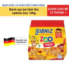Bánh qui vị bơ hình thú cho bé Leibniz Zoo 100g – Nhập khẩu chính hãng từ Đức