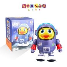 Robot vịt không gian phi hành gia nhảy múa vui nhộn theo nhạc kèm pin LANLAN KIDS đồ chơi Space Duck Dance