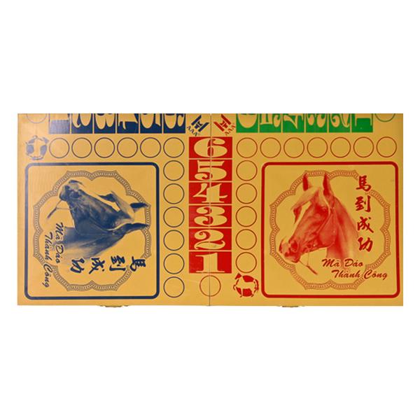 bộ cờ cá ngựa cao cấp 44*45cm- con cờ to