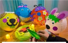 ĐÈN LỒNG trang trí Tết trung thu quà tặng đồ chơi trẻ em gói vật liệu cả nhà cùng làm