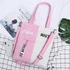 Túi Tote Phối Pink-White Yellow-White Black-White Blue-White Black-Bluss