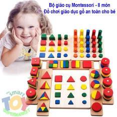 Bộ Đồ Chơi 8 Món Giáo Cụ Montessori – Giúp Trẻ Phát triển Trí Tuệ Về Hình Học Toán Học