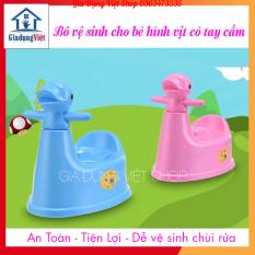 [Nhựa Việt Nhật] Bô Vệ Sinh Cho Bé Hình Vịt Có Tay Cầm Tiện Lợi