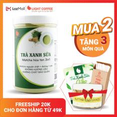 [MUA 2 TẶNG 3 QUÀ] Bột trà xanh sữa 3in1, matcha xuất xứ Nhật Bản, hũ 550g, từ nhà sản xuất Light Coffee
