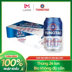 Thùng 24 lon Bia Tsingtao 0.0% Độ cồn – Nhập khẩu chính hãng 100%