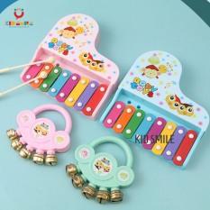 Đồ chơi trẻ em combo đàn xylophone và lục lạc 2 cho bé trai bé gái kích thích phát triển kỹ năng nghe nhìn và cảm thụ âm nhạc
