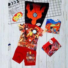 Bộ quần áo siêu nhân người sắt kèm áo choàng và mặt nạ – Bộ đồ hoá trang siêu nhân tay ngắn TN102