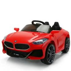 Ô tô điện trẻ em BMW Z4 tự lái và remote 2 động cơ 6V4,5AH (Đỏ-Trắng-Xanh)
