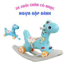 Ngựa bập bênh cho bé 2in1 đa năng có bánh xe, kiêm xe chòi chân có nhạc – Xe đồ chơi thông minh, an toàn cho trẻ từ 1 đến 3 tuổi