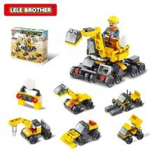 Đồ chơi lego trẻ em lắp ráp xếp hình đội thi công công trình Construction Team 6in1 Lele Brother 8520