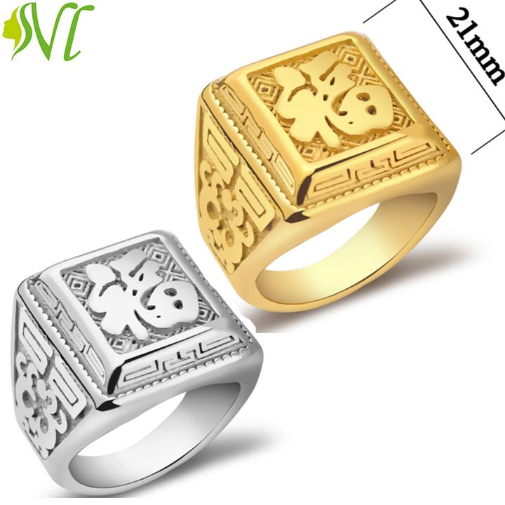 Nhẫn nam chữ phước mạ vàng 24k mặt to đẹp, hàng bao đep bán chạy, hãy chọn cho mình 1...