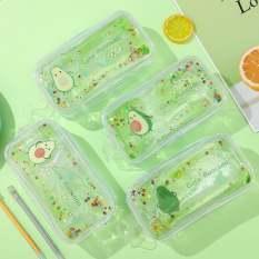 Hộp bút nước Túi Đựng Bút trong suốt Hình Trái Bơ siêu Cute dễ thương Cho Bạn Gái Bé Gái