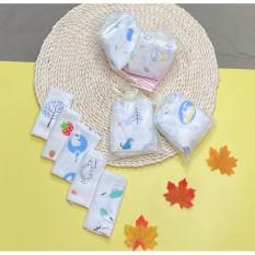 Set 10 chiếc khăn sữa sợi tre kèm túi lưới, đồ dùng cho bé – KHAN11