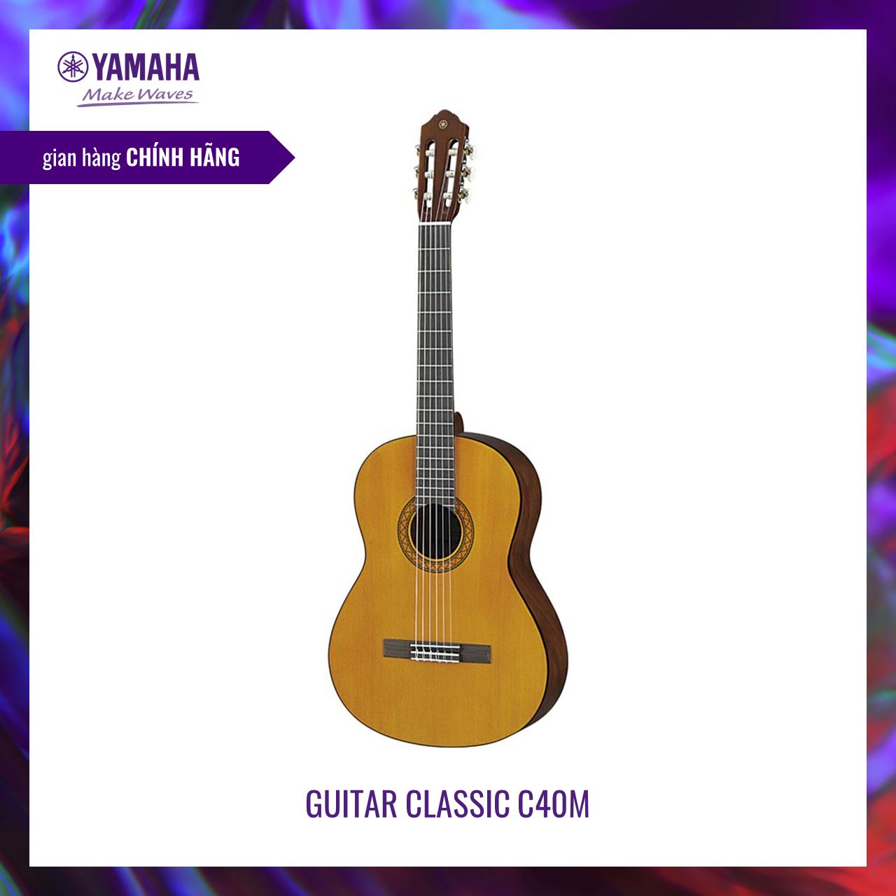 [Trả góp 0%] Đàn Guitar Classic Yamaha C40II – CG shape Spruce Top Back & Side Tonewood Xuất xứ Indonesia – Bảo hành chính hãng 12 tháng