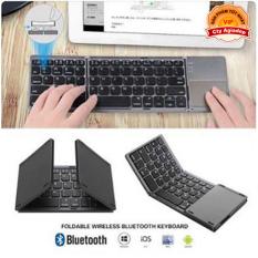 Bàn phím không dây có di chuột Bluetooth gấp gọn phù hợp mọi máy tính điện thoại – Hàng xịn Agiadep AB033